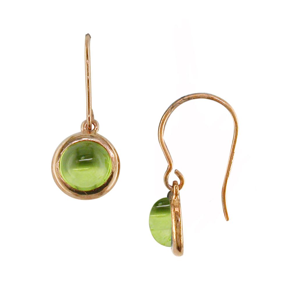 Rose gold peridot drop Bubble earrings