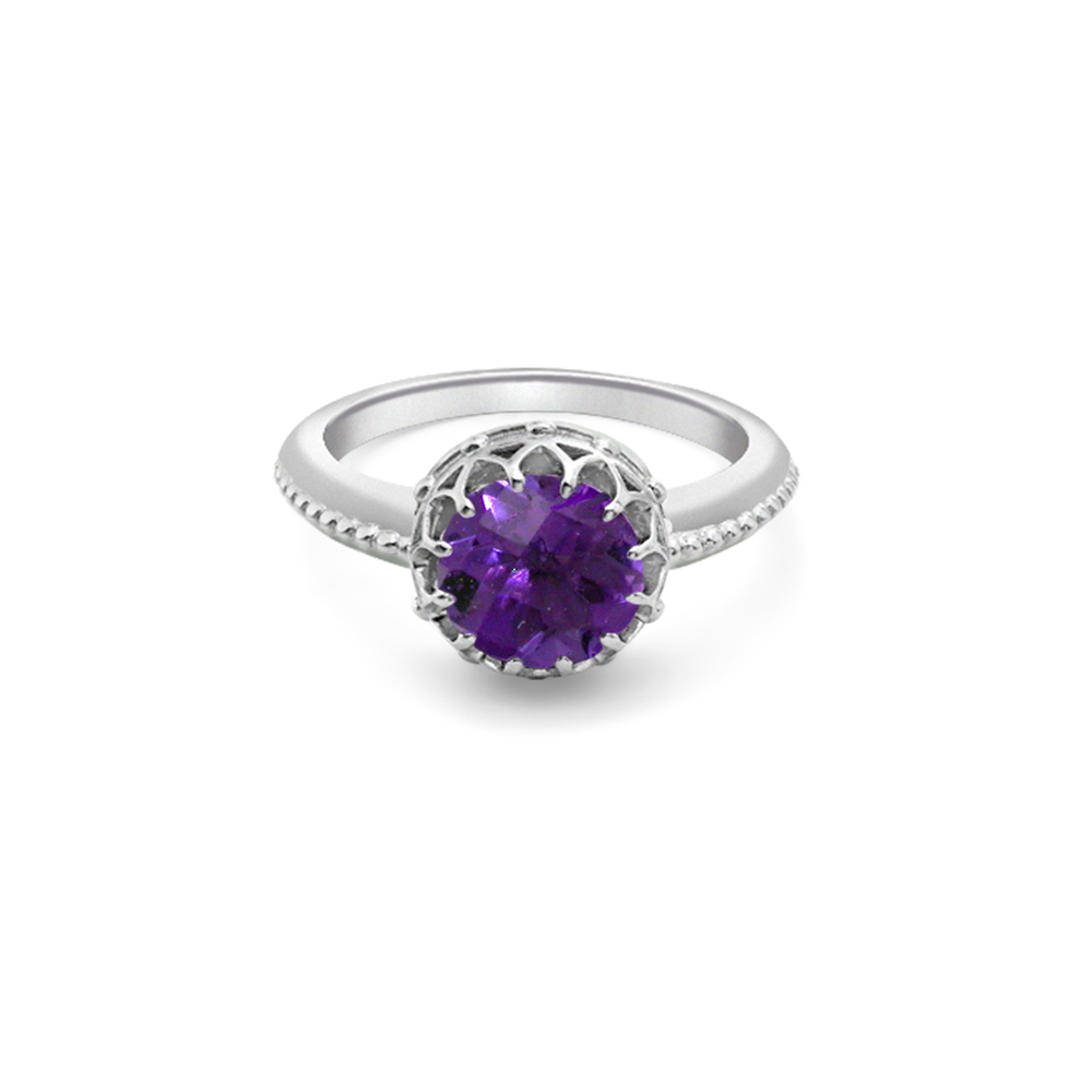 White Gold Amethyst Ring London Road Jewellery