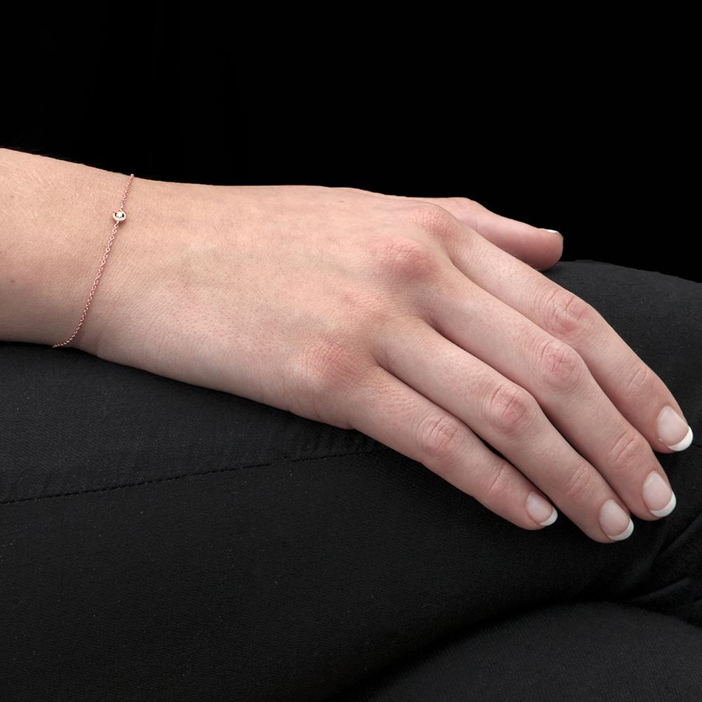 Rose gold diamond Raindrop bracelet