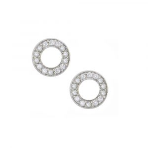 White gold diamond Meridian circle earrings