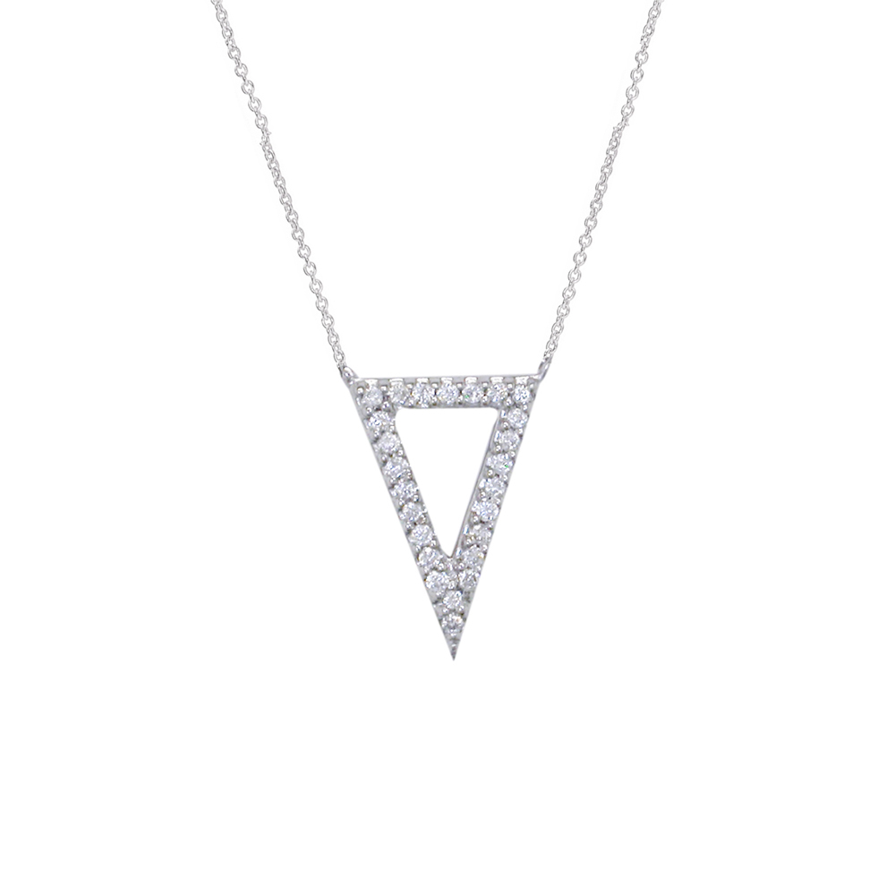 White gold diamond Geo pendant