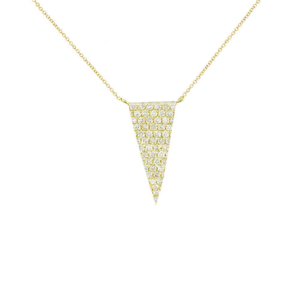 Yellow gold gold diamond Geo pendant