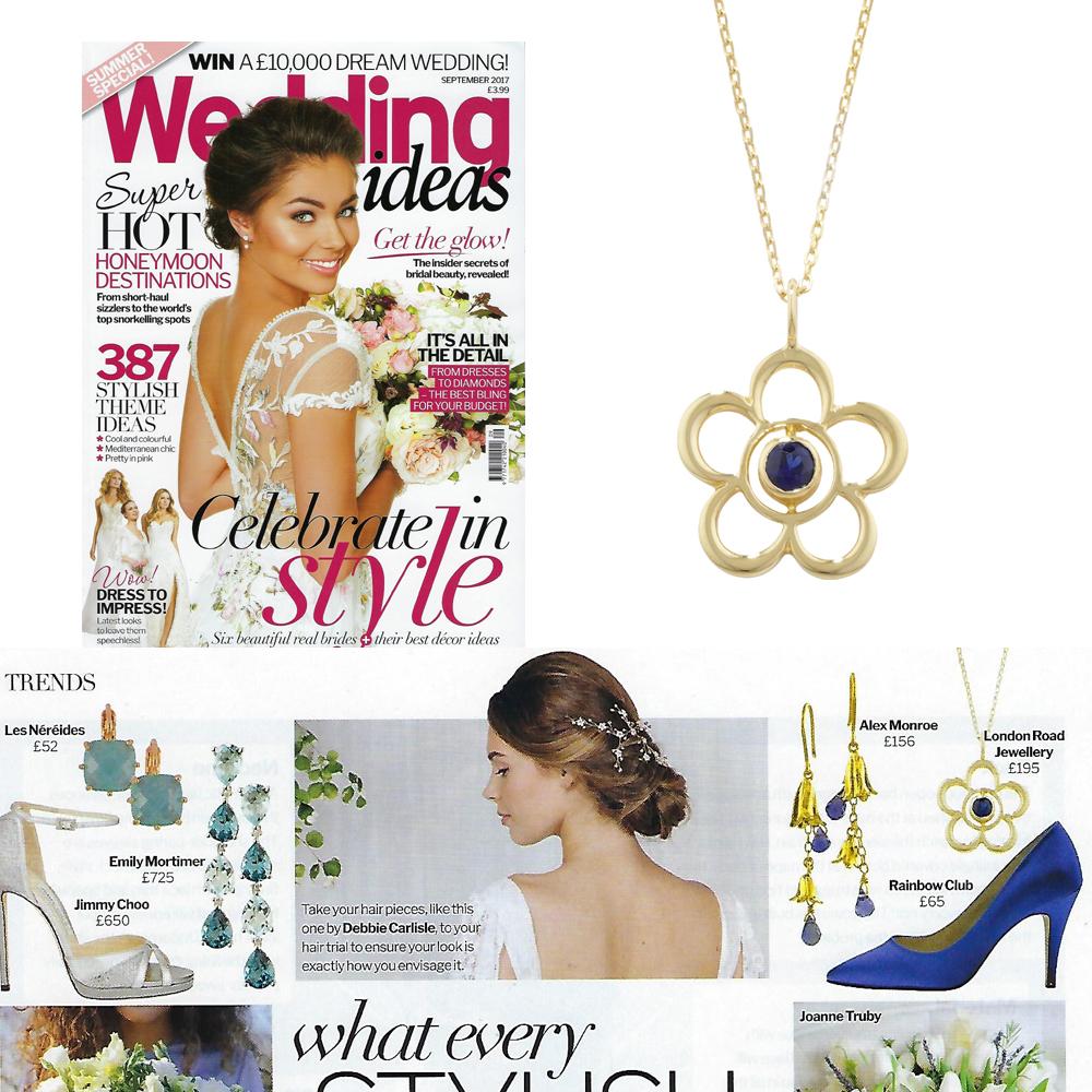 Yellow gold sapphire Blossom pendant