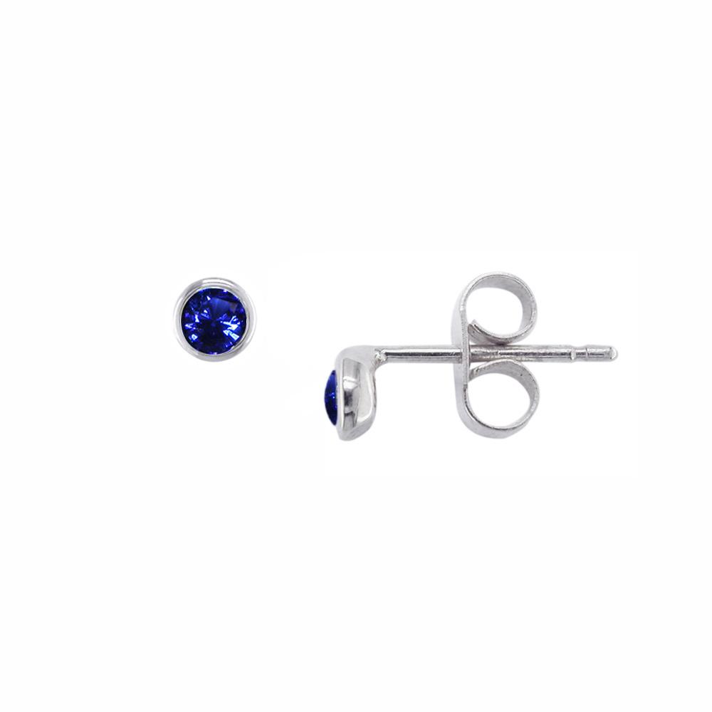 White gold sapphire stud earrings