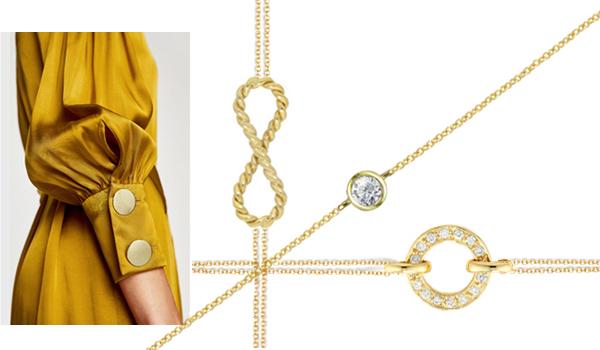 Yellow gold diamond bracelets