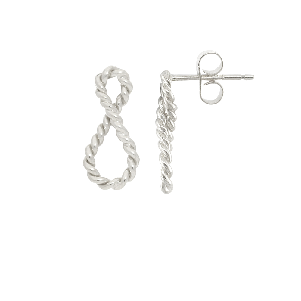 Silver Infinity drop earrings
