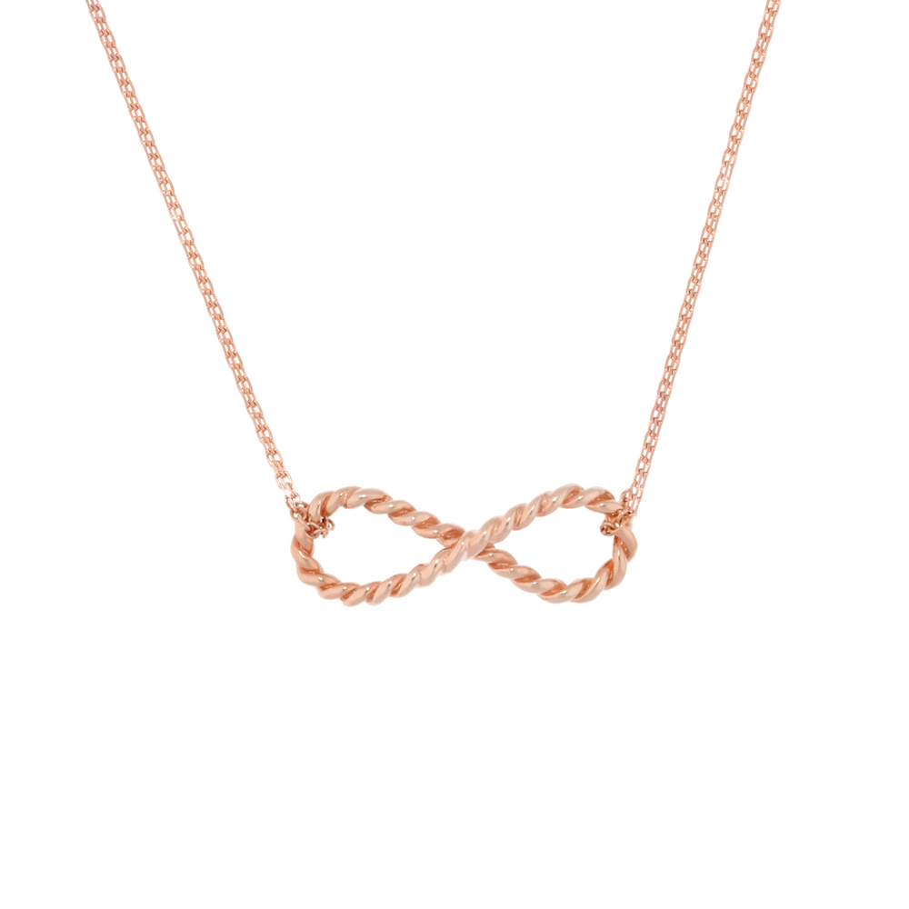 Carnaby rose gold Infinity necklace