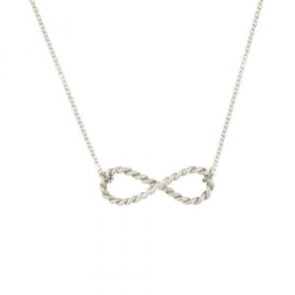 Sterling silver infinity pendant