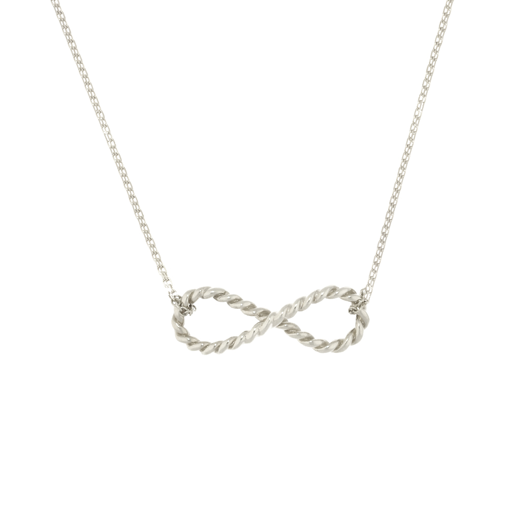 Stylish silver Infinity pendant necklace