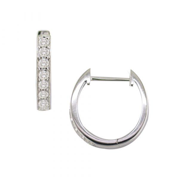 White gold diamond Meridian hoop earrings