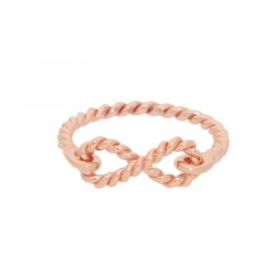 Modern Rose gold Infinity ring
