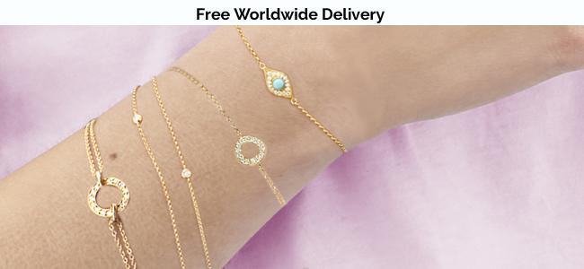 Yellow gold diamond, turquoise bracelets