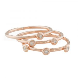 Rose Gold Diamond Stacking Rings