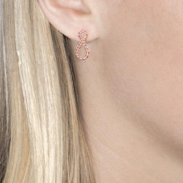 Rose gold Infinity earrings