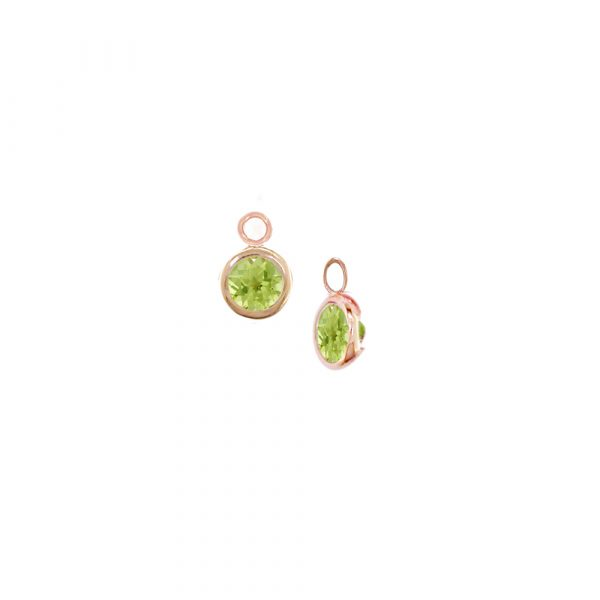 Interchangeable rose gold peridot Dew Drop droppers