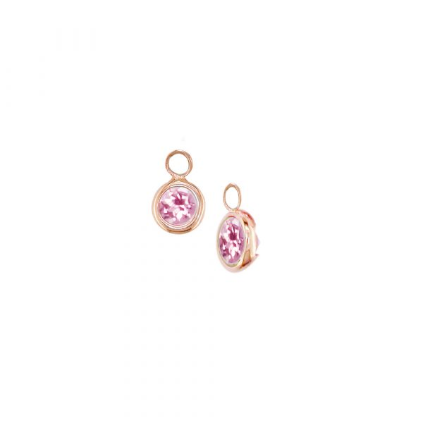 Rose gold pink tourmaline Dew Drop droppers