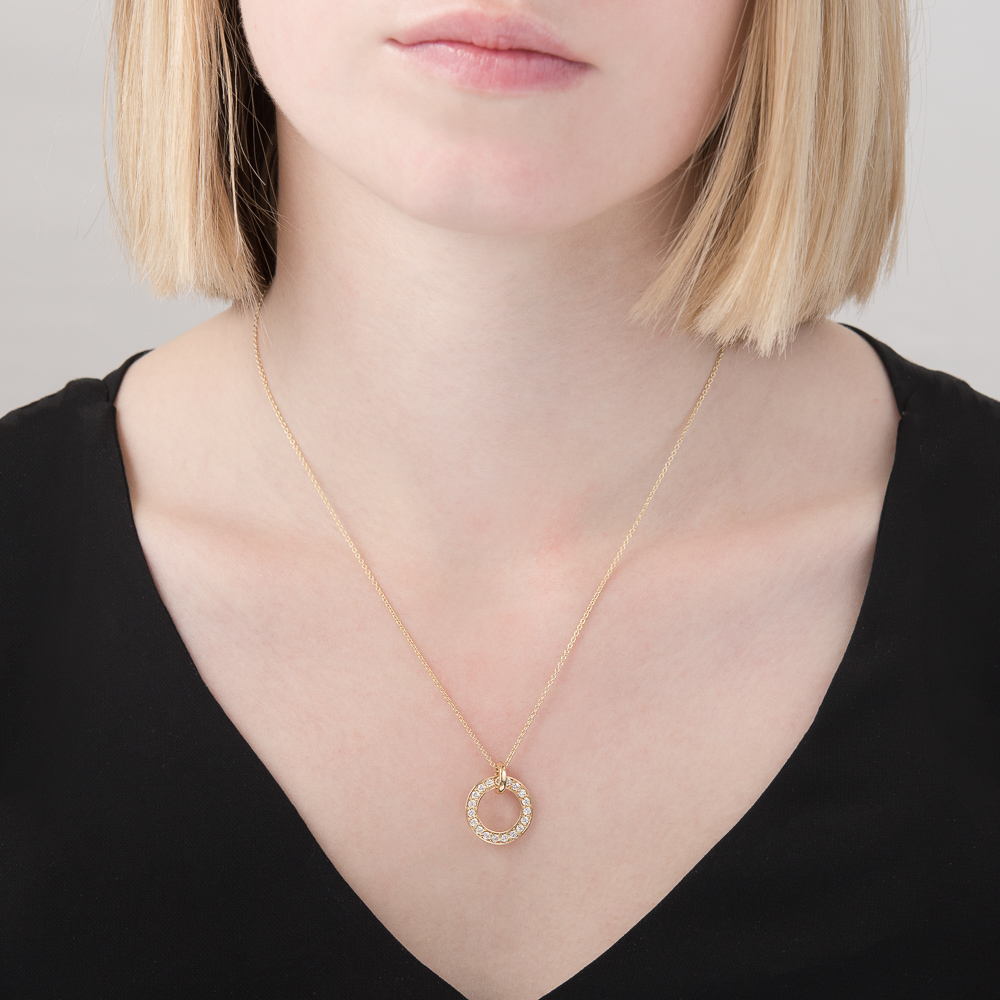 Yellow gold diamond Meridian pendant