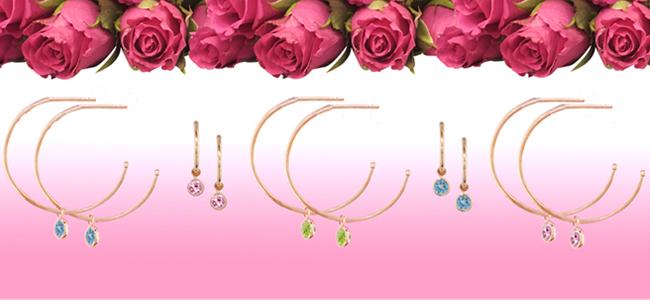 Rose gold Dew Drop hoop earringhs