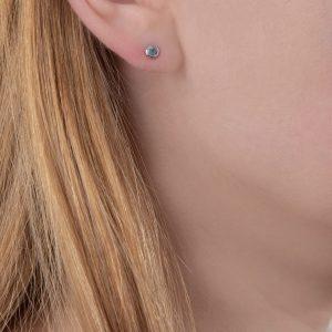 White gold aquamarine stud earrings