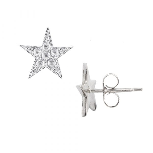 White gold diamond Starry Night stud earrings