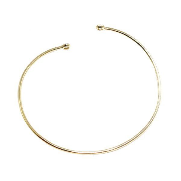 Yellow gold diamond twist bangle
