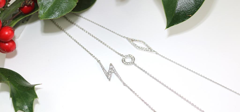White gold diamond Geo bracelets