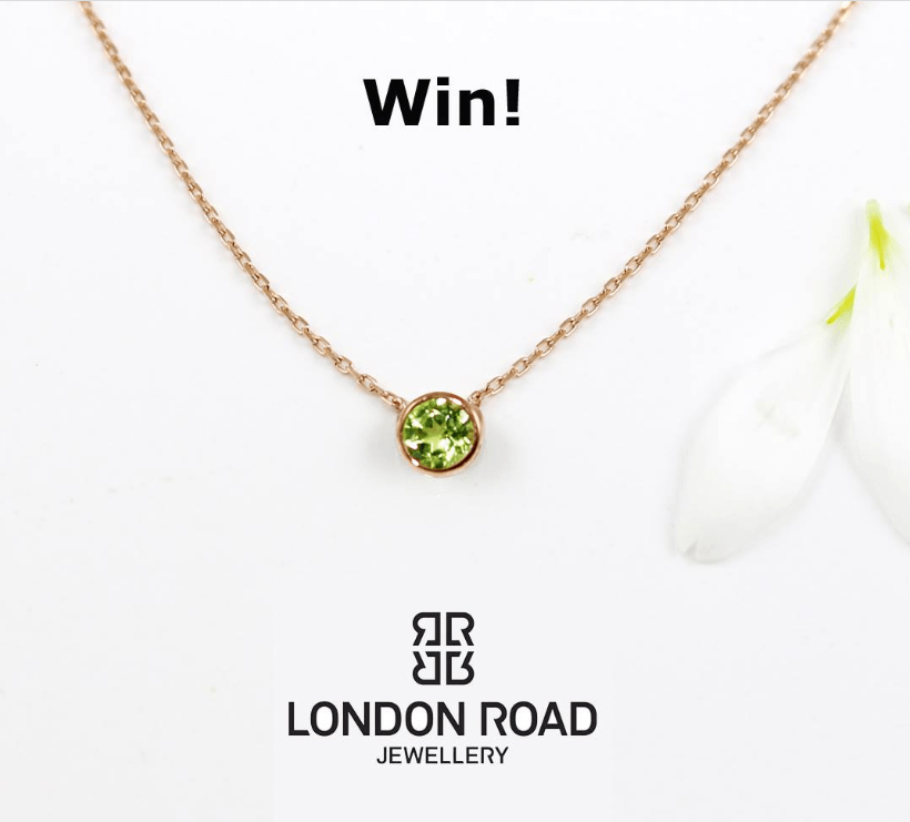 Win A Rose Gold Peridot Necklace